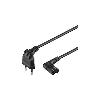 Qnect Mains cable 2-pin Euro to C7 Sonos angled 5 m black