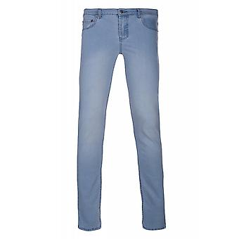 JUNK YARD Lars slim Pant men's blue denim 5-Pocket style slim