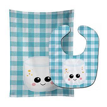 Каролинских сокровища BB7056STBU Marshmellow Face ребенок нагрудник & Берп Ткань