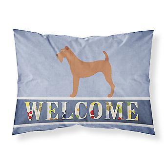 Terrier irlandés agradable tela funda de almohada estándar