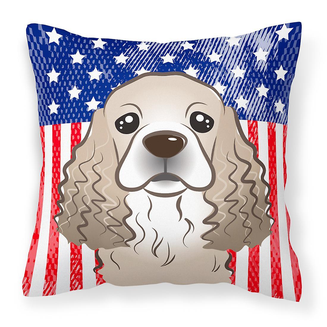 De Spaniel Et Tissu American Décoratif Oreiller Flag Cocker b6yfY7vg
