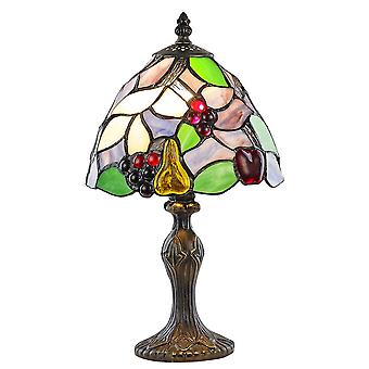 Multi-Coloured Fruit Themed Stained Glass Tiffany Lamp