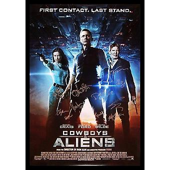 Cowboys and Aliens - Signed Movie Poster
