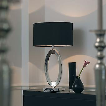Silver Table Lamp With Shade - Endon Nerino