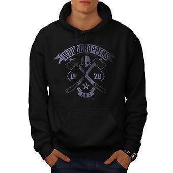 WoodBikerss Club Men BlackHoodie | Wellcoda