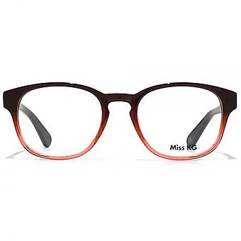 Miss KG Soft Oval Glasses In Burgundy To Pink Gradient