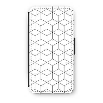 Samsung Galaxy S8 Plus Flip Case - Cubes black and white
