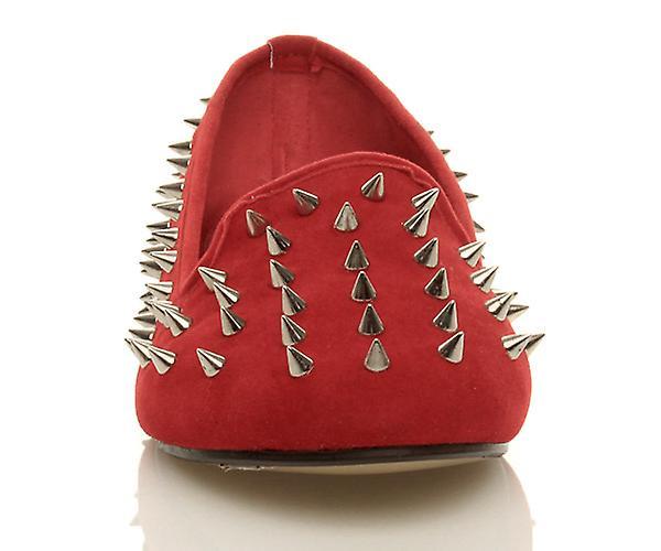 embellished spike womens Ajvani loafers flat shoes studded gem pumps wXqnnESU