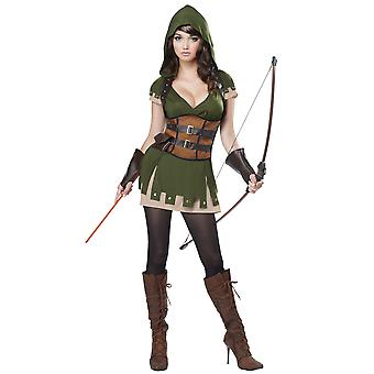 Lady Robin Hood Medieval Sherwood Archer Hero Thieves Warrior Womens Costume
