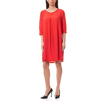 knee-length dresses of round neck 3/4 sleeve red b.c. by heine