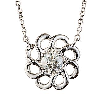 Forever Classic Round 4.5mm Moissanite Fashion Pendant Necklace, 0.33ct DEW