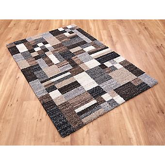 Mehari 23151 6268 Beige Grey Brown  Rectangle Rugs Modern Rugs