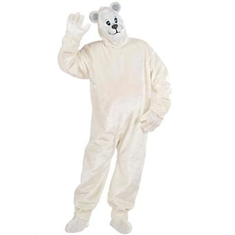 Plush Polar Bear Costume (Costume Gloves Shoe Covers Mask)