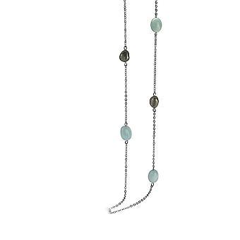 Orphelia Silber 925 Halskette 80 Cm Semi Edelsteine ZK-2785