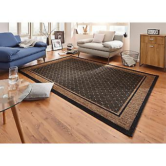 Design carpet flat weave classy with dark brown trim