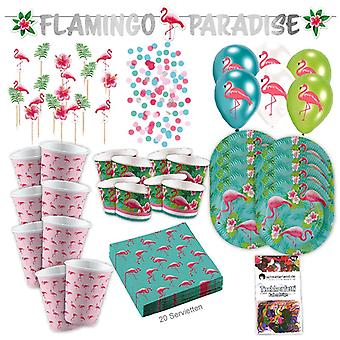 Pink Flamingo 73-teilig Flamingo party tropical party party box party package