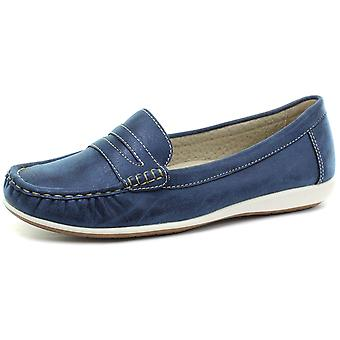 Boulevard Navy Apron Saddle Summer Casual Womens Slip On Shoes