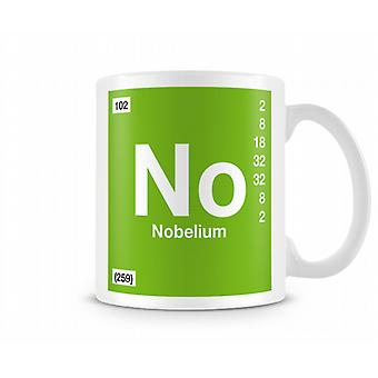 Element Symbol 102 No - Nobelium Printed Mug