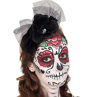 Headband black skull Mexican day of the dead accessory