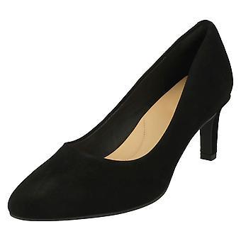 Ladies Clarks teksturert Court sko Calla Rose - sort strukturert Lær - UK størrelse 3D - EU størrelse 35.5 - USA størrelse 5,5 M