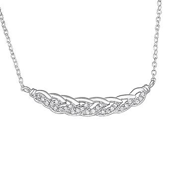 Chain - 925 Sterling Silver Jewelled Necklaces - W29933x