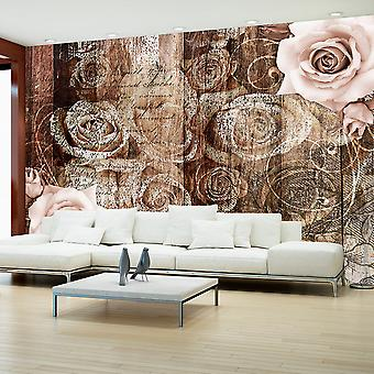 Wallpaper - Old Wood & Roses