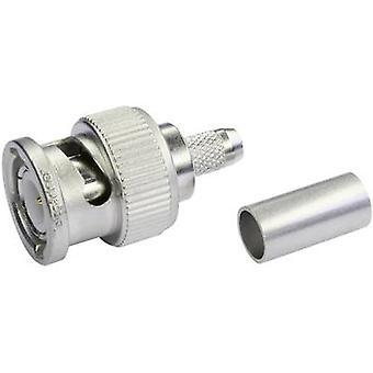 BNC connector Plug, straight 50 Ω Telegärtner J01000A1255Y 1 pc(s)