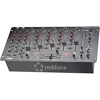DJ 19 Rack-Mount Mixer Renkforce DJM700U USB