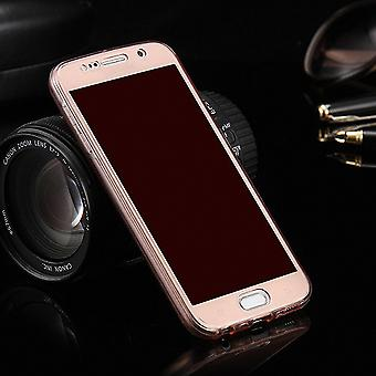 Crystal case cover for Samsung Galaxy S5 / S5 neo pink frame full body