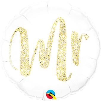 Qualatex 18in Mr. Glitter Foil Balloon