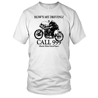 Klassische Moto Guzzi Anruf 999 Herren-T-Shirt