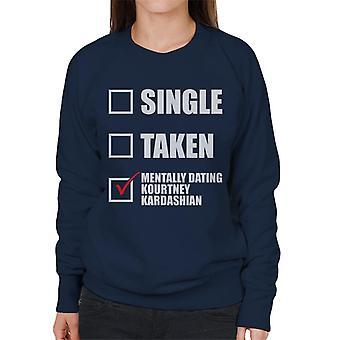 Mentally Dating Kourtney Kardashian Women's Sweatshirt