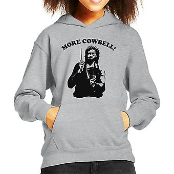 More Cowbell Black And White Kid's Hooded Sweatshirt