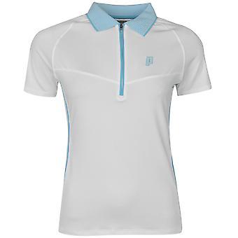Prince Womens Half Zip Tech Tennis Polo Shirt Short Sleeve Sport Breathable Top