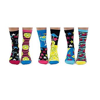United Oddsocks Mojitoes Ladies Cocktail Socks