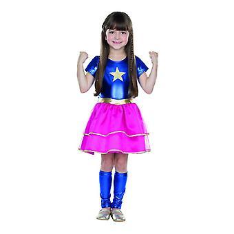Little heroine costume kids superhero Halloween Carnival dress girl