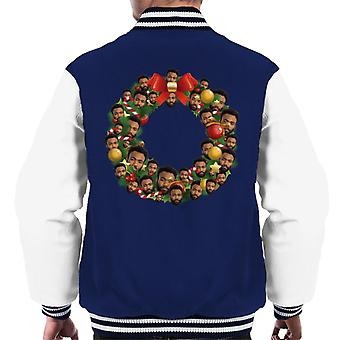 Natale corona Multi Donald Glover Varsity giacca uomo