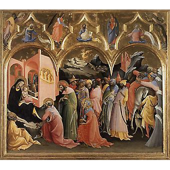 Adoration of the Magi,Lorenzo Monaco,60x50cm
