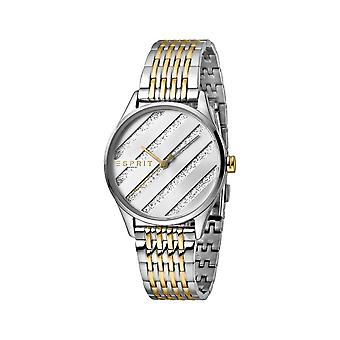 ESPRIT Ladies Watch Watches E.ASY Silver and Gold MB Analogue Quartz