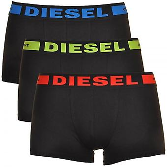 Diesel 3-Pack Boxer Trunk UMBX-Kory, Black With Red/Green/Blue, Large