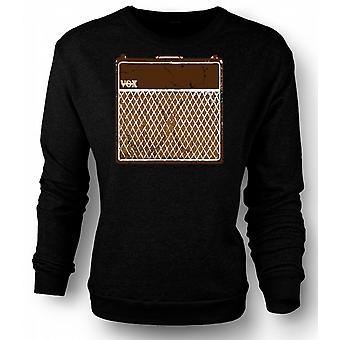 Mens Sweatshirt Vox Guitar Amps AC30 - Blues Rock Music