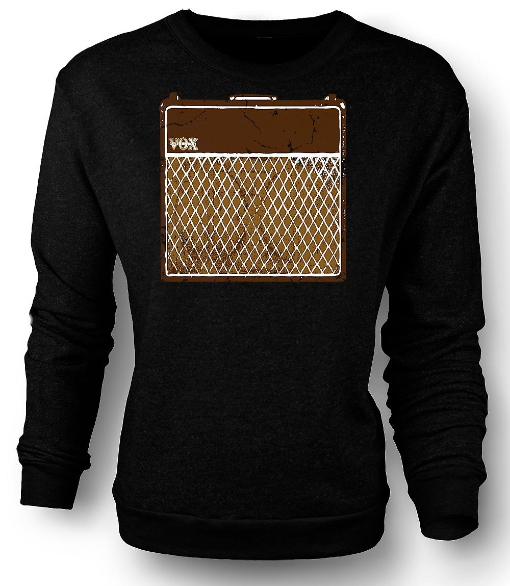 Mens Sweatshirt Vox gitar forsterkere AC30 - Blues Rock musikk