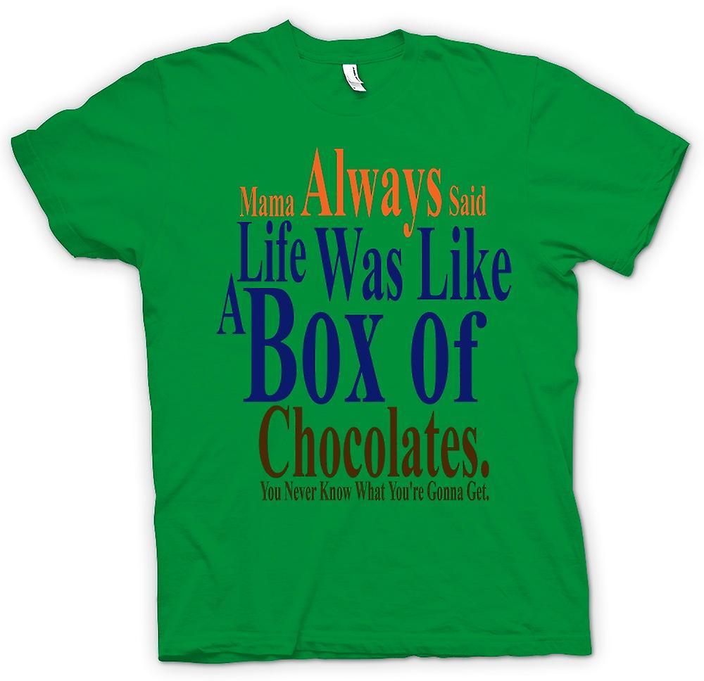 Mens T-shirt - Forrest Gump Box Chocolates - Funny