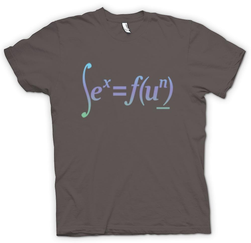 Mens T-shirt - Sex = Fun - Math Formula Design