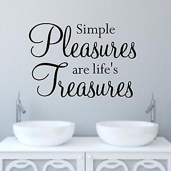 Decal Wall Art Quote klistremerke - enkle gleder