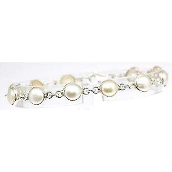 925 Silver - Pearl Look Fancy Bracelet