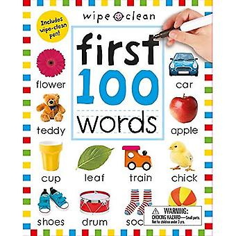 Wipe Clean: First 100 Words (Enclosed Spiral Binding) (Wipe Clean Workbooks)