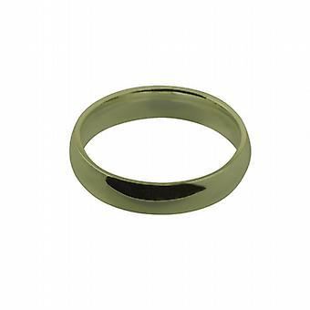 9ct Gold 5mm einfache Gericht Wedding Ring Größe Q geformte