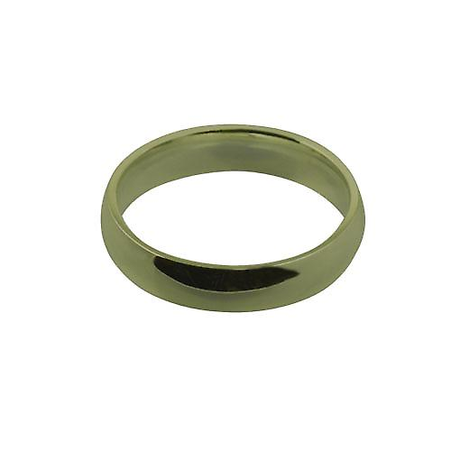 9ct Gold 5mm plain Court shaped Wedding Ring