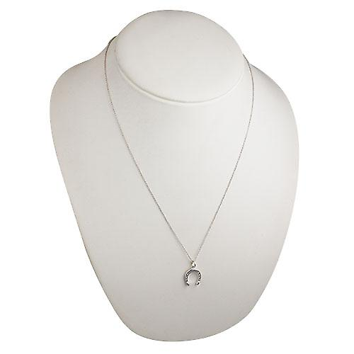 Silver 15x14mm Horse Shoe Pendant with a rolo Chain 22 inches